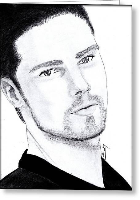 Jay Ryan - Beauty And The Beast Greeting Card