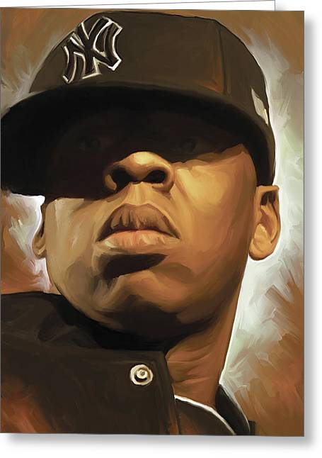 Jay-z Artwork Greeting Card by Sheraz A