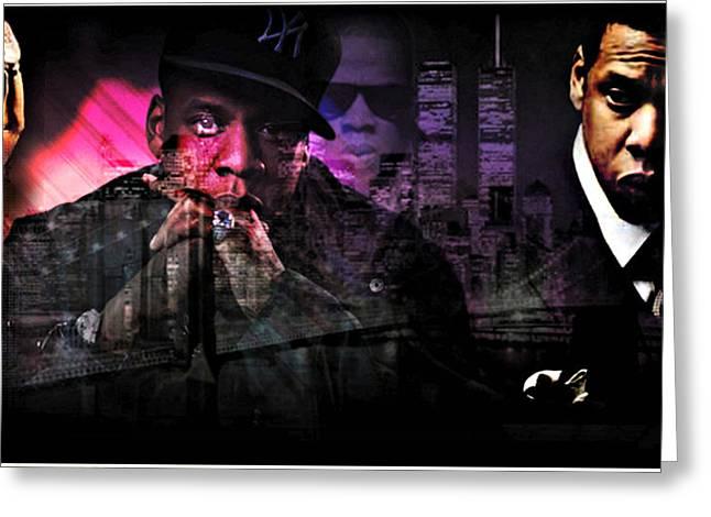 Jay Z Greeting Card by Lynda Payton