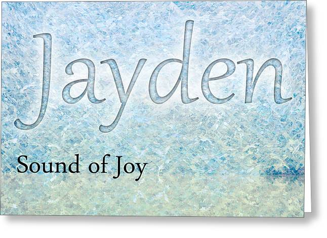 Jayden - Sound Of Joy Greeting Card by Christopher Gaston