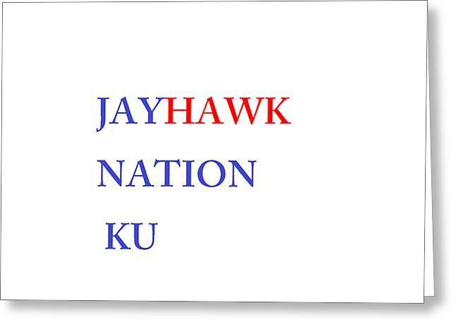 Jayhawk Nation Greeting Card by Aaron Martens