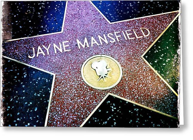 Jayne Mansfield Star Greeting Card by Nina Prommer