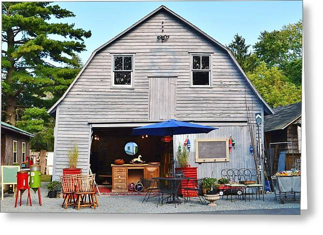 The Old Barn At Jaynes Reliable Antiques And Vintage Greeting Card
