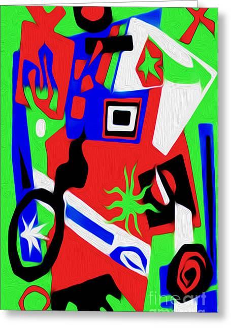 Jazz Art - 03 Greeting Card