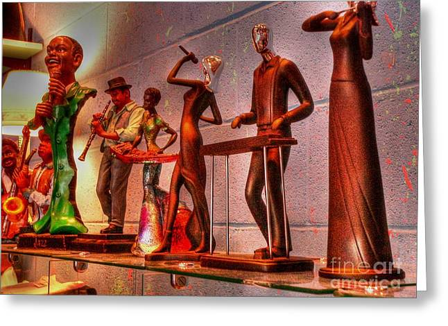 Jazz Band Greeting Card by David Bearden
