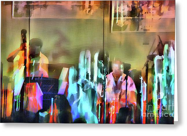Jazz Band Greeting Card by Jeff Breiman