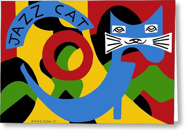 Jazz Cat Greeting Card