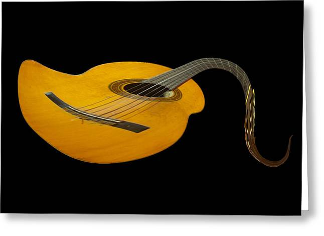 Jazz Guitar 2 Greeting Card by Debra and Dave Vanderlaan