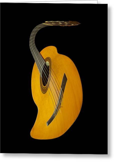 Jazz Guitar Greeting Card by Debra and Dave Vanderlaan