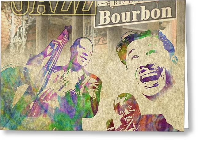 Jazz Legends Greeting Card by Timothy Lowry