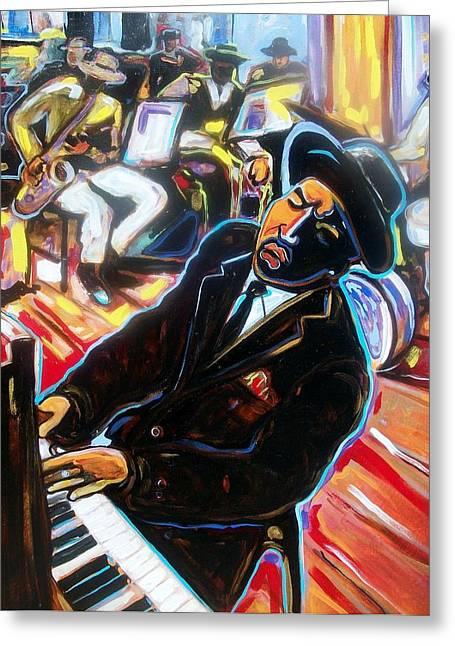 Jazz Man Greeting Card by Emery Franklin