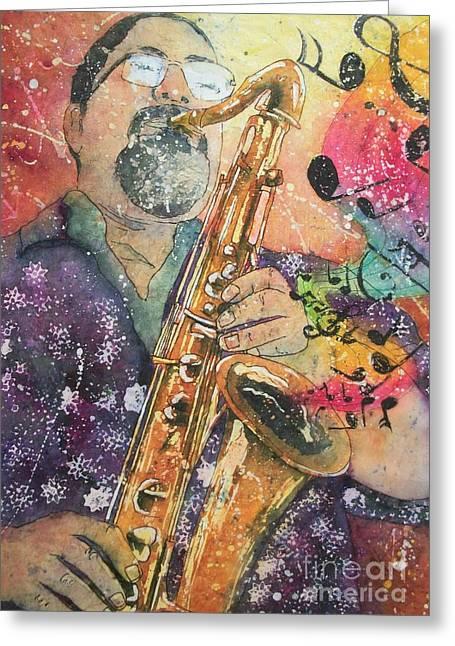 Jazz Master Greeting Card
