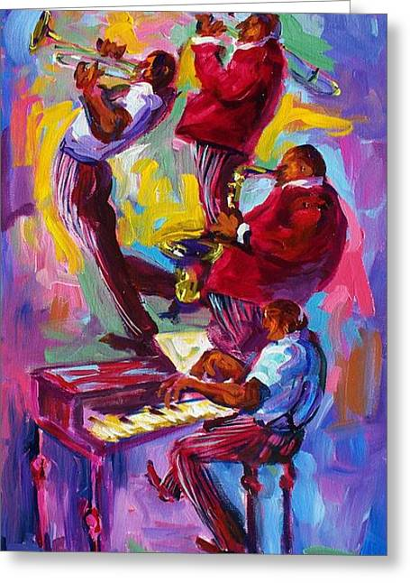 Jazz Rising New Orleans Greeting Card