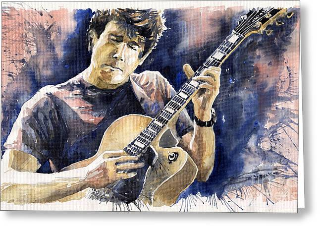 Jazz Rock John Mayer 06 Greeting Card by Yuriy  Shevchuk