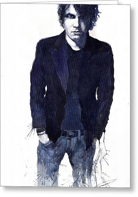 Jazz Rock John Mayer 07 Greeting Card by Yuriy  Shevchuk