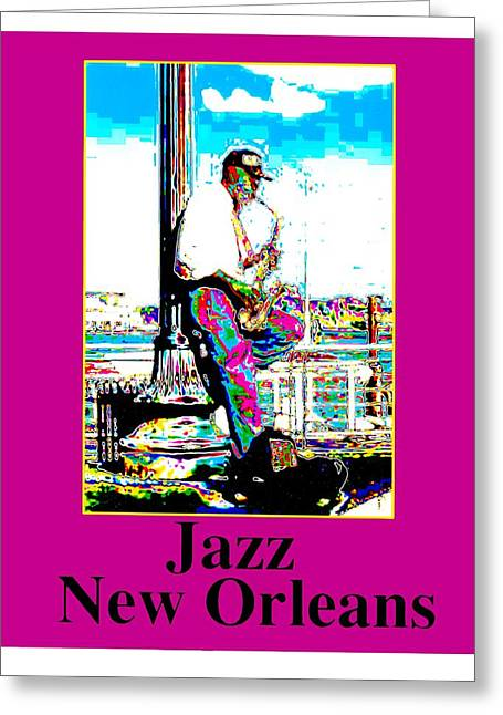 Jazz Sax Greeting Card