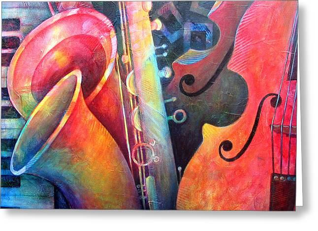 Jazz  Greeting Card by Susanne Clark
