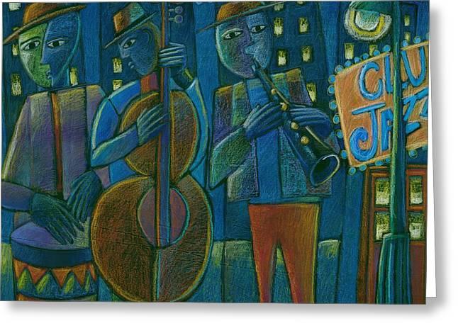 Jazz Time At Club Jazz Greeting Card