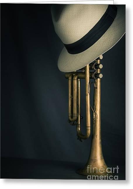 Jazz Trumpet Greeting Card by Carlos Caetano
