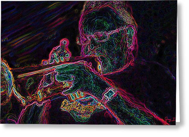 Jazz Trumpet Man Greeting Card