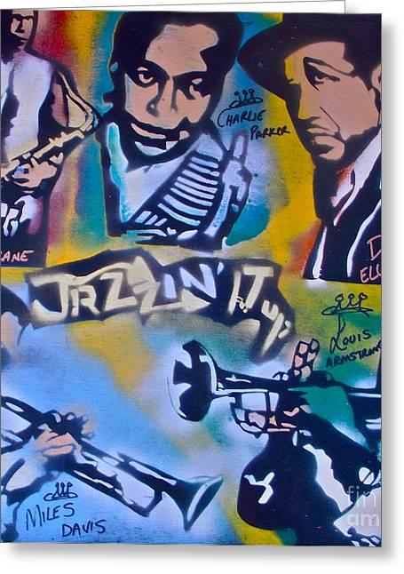 Jazzin It Up 1 Greeting Card by Tony B Conscious