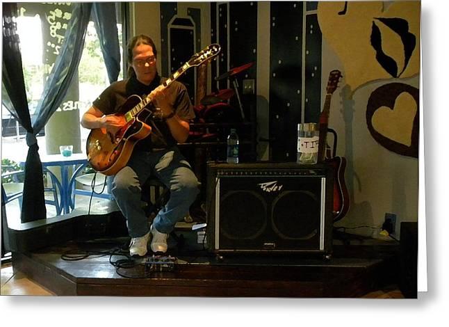 Jazzman Jorge - Limehouse Blues Greeting Card by Shawn Lyte