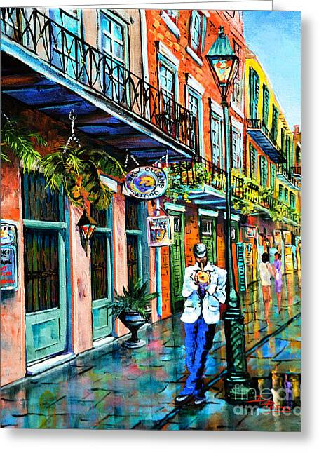 Greeting Card featuring the painting Jazz'n by Dianne Parks