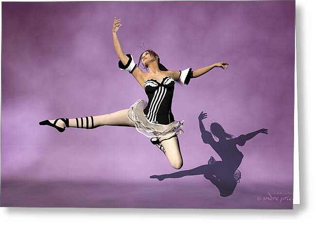 Jazzy Jete Greeting Card by Andre Price
