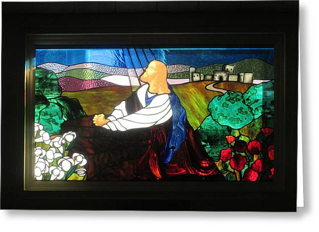 Greeting Card featuring the photograph Jc In Prayer by Marie Neder