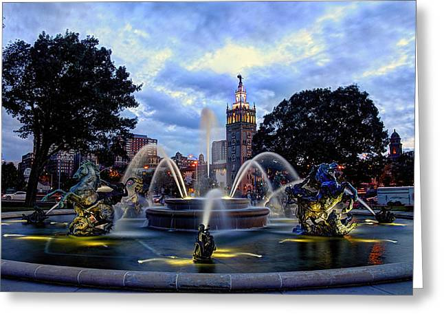 J. C. Nichols Fountain Greeting Card by Jean Hutchison