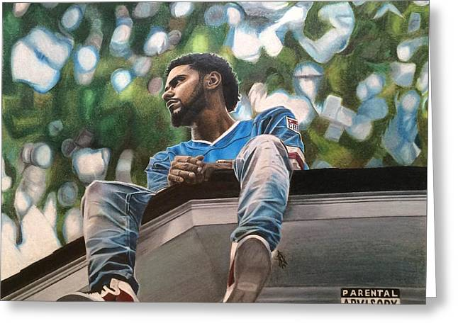J.cole - 2014 Forest Hills Drive Drawing Greeting Card