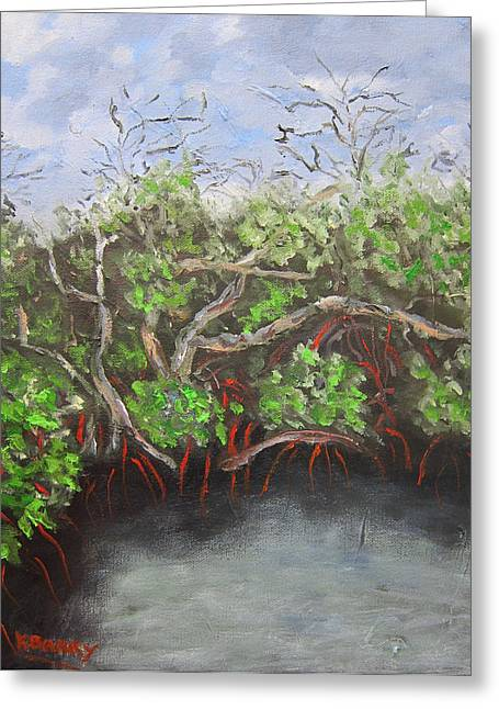 Jd Macarthur Mangroves Greeting Card