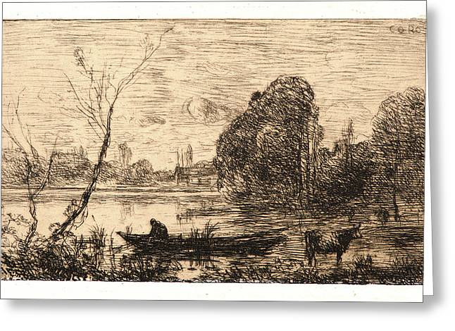Jean-baptiste-camille Corot French, 1796 - 1875. Ville Greeting Card