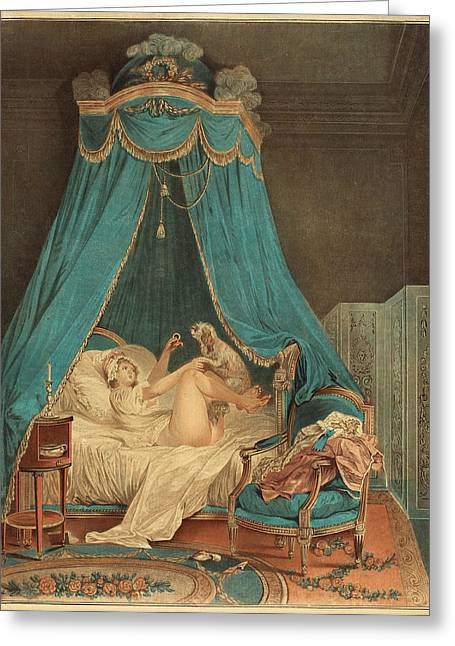 Jean-baptiste Chapuy After Nicolas Lavreince French Greeting Card by Quint Lox
