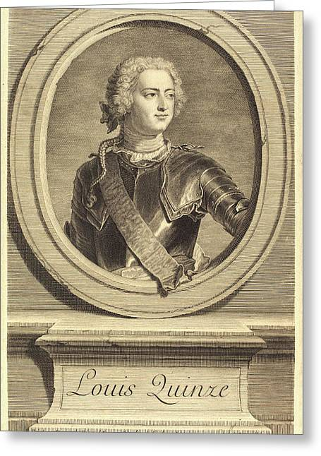 Jean Daullé After Hyacinthe Rigaud, French 1703-1763 Greeting Card by Litz Collection