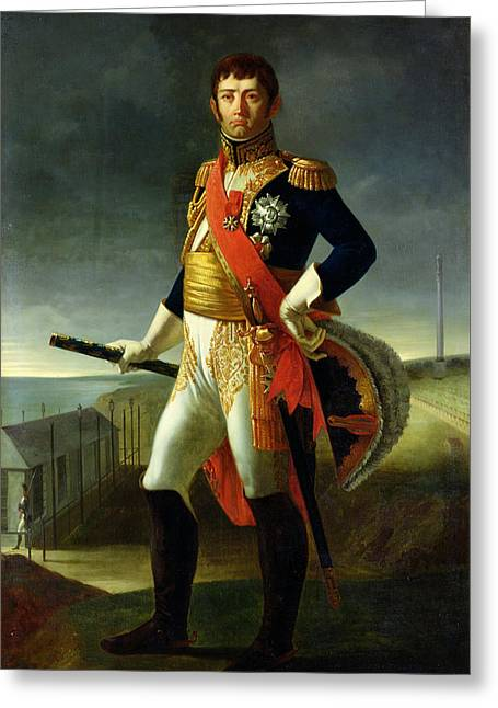 Jean-de-dieu Soult 1769-1851 Duke Of Dalmatia, 1856 Oil On Canvas Greeting Card