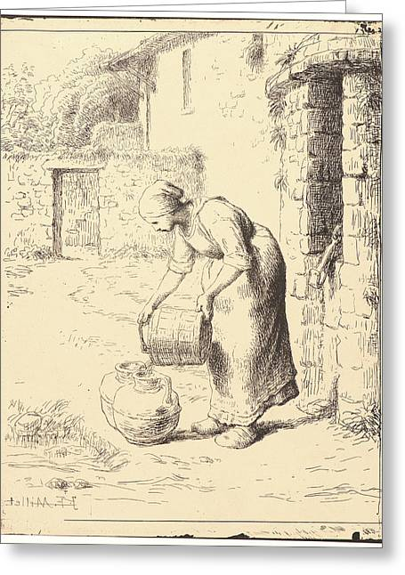 Jean-françois Millet French Greeting Card by Litz Collection