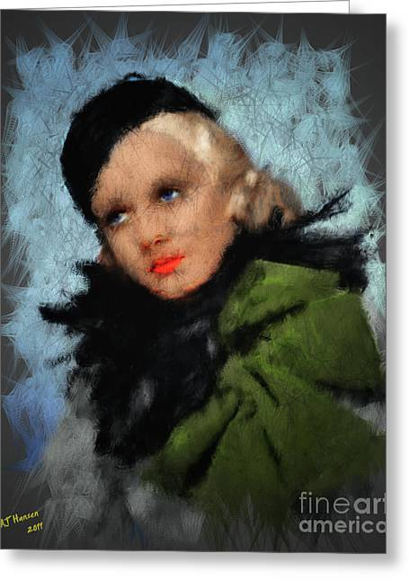 Jean Harlow Greeting Card