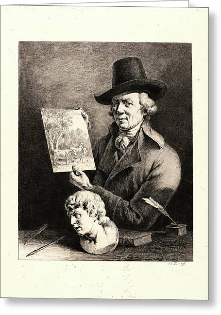 Jean Jacques De Boissieu French, 1736 - 1810. Self-portrait Greeting Card