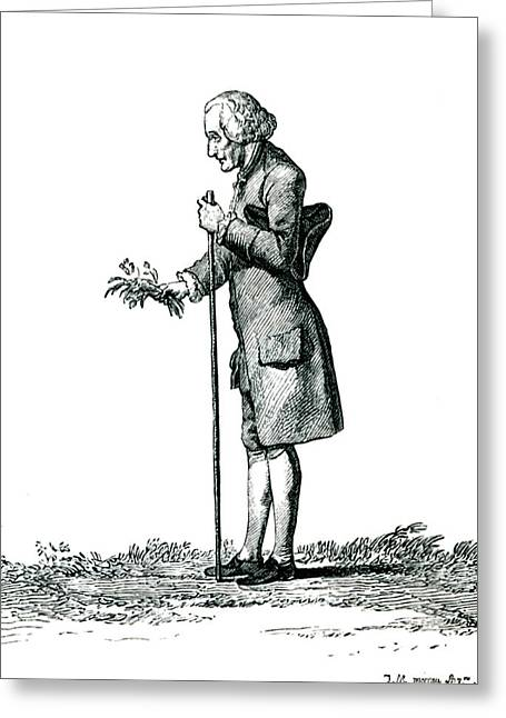 Jean-jacques Rousseau Greeting Card by Collection Abecasis