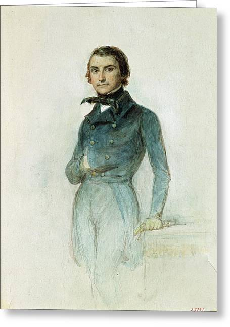 Jean Joseph Louis Blanc 1811-82 1835 Pastel On Paper Greeting Card