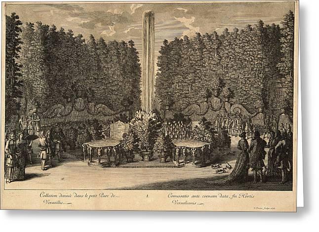 Jean Le Pautre French, 1618-1682. Collation Donne Dans Le Greeting Card