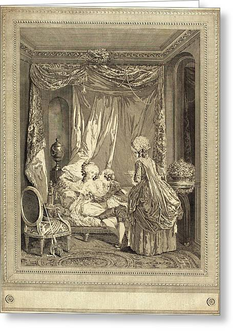 Jeanne Deny Or Martial Deny After Niclas Lafrensen II Greeting Card by Litz Collection
