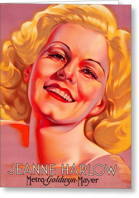 Greeting Card featuring the photograph Jeanne Harlow by Allen Beilschmidt
