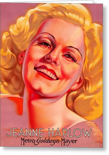 Jeanne Harlow Greeting Card by Allen Beilschmidt