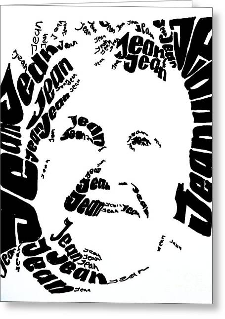 Jean's Portrait Greeting Card by PainterArtist FINs husband Maestro