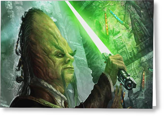 Jedi Archaeologist Greeting Card by Ryan Barger
