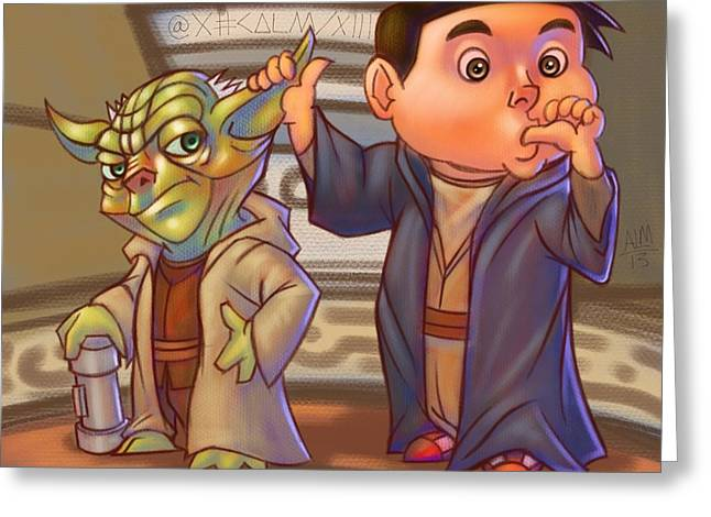 Jedi Of A Kind  Greeting Card by Anthony Mata