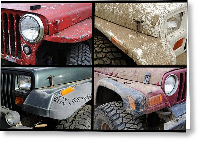 Jeep 4x4 Greeting Card by Luke Moore
