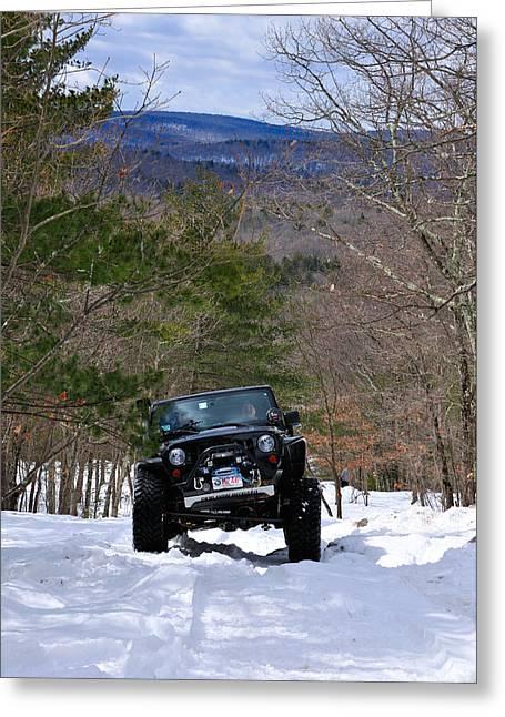 Jeep 9 Greeting Card by J Scott Davidson
